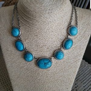 AEO Boho Turquoise Statement Necklace
